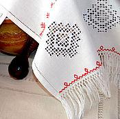 Свадебный салон handmade. Livemaster - original item Towel with fringe, hand embroidery, linen, 3 Kuban. Handmade.