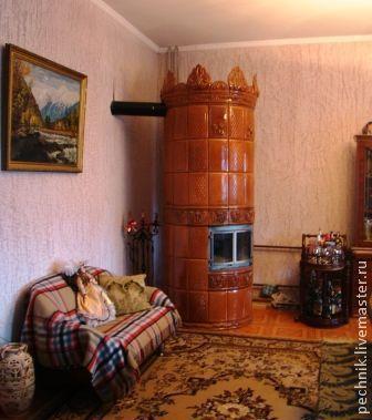 Изразцовая печь-голландка, Камины, Красноярск,  Фото №1