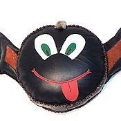 Для дома и интерьера handmade. Livemaster - original item Leather soft toy pillow Imp. Handmade.