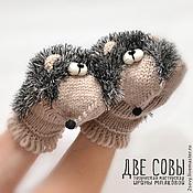Аксессуары handmade. Livemaster - original item hedgehogs. Mittens hedgehogs.. Handmade.