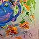 Картины цветов ручной работы. Картина маслом на холсте. Букет с оранжевыми лилиями.. ~~~Живопись~~~ Валери Меценатовой. Ярмарка Мастеров. холст