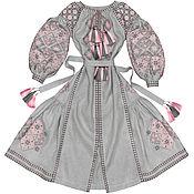 """Одежда handmade. Livemaster - original item Длинное платье с клиньями """"Весна-Красна"""". Handmade."""