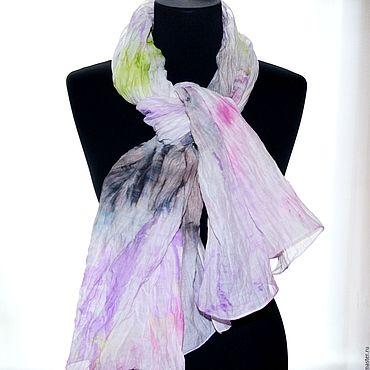 Аксессуары handmade. Livemaster - original item Scarves watercolor fabric silk 30% cotton 70. Handmade.