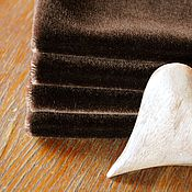 Материалы для творчества ручной работы. Ярмарка Мастеров - ручная работа Мохер прямой короткий 2.5 мм. Шоколад. Handmade.