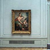 Картины и панно handmade. Livemaster - original item Oil painting Saint Anne with Mary and Christ child 53h79sm.copy.. Handmade.