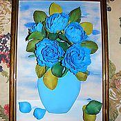 """Картины и панно ручной работы. Ярмарка Мастеров - ручная работа Картина из фоамирана """"Синие грезы"""". Handmade."""
