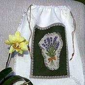 Для дома и интерьера ручной работы. Ярмарка Мастеров - ручная работа мешок для хлеба Лаванда. Handmade.