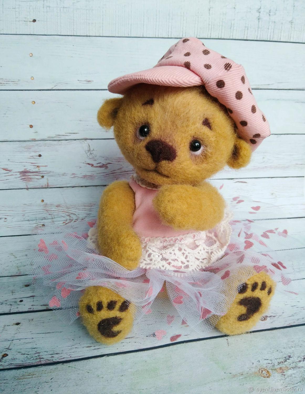 Мишель. Валяная медвежка, Войлочная игрушка, Вышний Волочек,  Фото №1