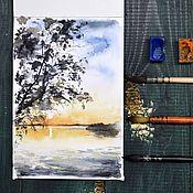 """Картины и панно ручной работы. Ярмарка Мастеров - ручная работа Картина акварелью """"Блаженство природы"""". Handmade."""