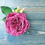 """Цветы и флористика ручной работы. Ярмарка Мастеров - ручная работа Брошь """" Бордовая роза"""". Handmade."""