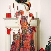 """Одежда ручной работы. Ярмарка Мастеров - ручная работа Платье крючком """"Пряные рождественские звезды"""" из тонкой шерсти. Handmade."""
