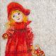 Люди, ручной работы. Ярмарка Мастеров - ручная работа. Купить Девочка с яблоками. Handmade. Ярко-красный, подарок девушке, красный