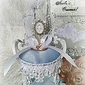 Свадебный салон ручной работы. Ярмарка Мастеров - ручная работа Подушечка для колец Седьмое небо Парижа. Handmade.