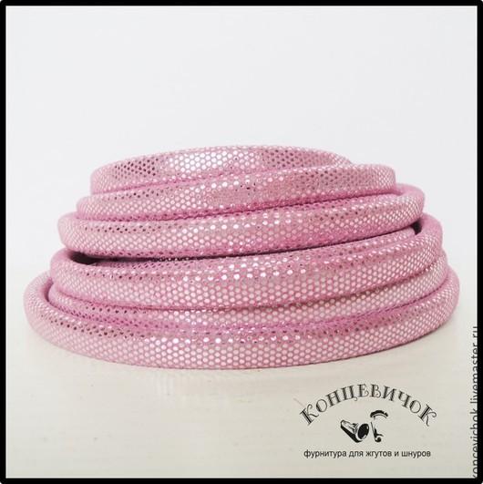 Для украшений ручной работы. Ярмарка Мастеров - ручная работа. Купить Розовый замшевый шнур Диско 10х7 Испания. Handmade.