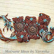 """Аксессуары ручной работы. Ярмарка Мастеров - ручная работа """"Легенда"""", плетёный пояс, макраме. Handmade."""