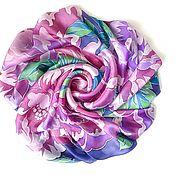Платки ручной работы. Ярмарка Мастеров - ручная работа Шёлковый платок батик «Весенний цвет». Handmade.