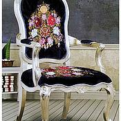 Ткани ручной работы. Ярмарка Мастеров - ручная работа Люкс вышивка по бархату для обивки мебели, Монарх. Handmade.