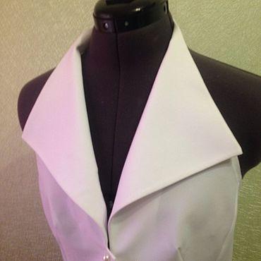 Одежда ручной работы. Ярмарка Мастеров - ручная работа Манишка-блузка XS S M L XL. Handmade.
