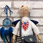 Для дома и интерьера ручной работы. Ярмарка Мастеров - ручная работа Кукла Хранительница ватных дисков и ватных палочек. Handmade.