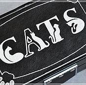Для дома и интерьера ручной работы. Ярмарка Мастеров - ручная работа Шкатулка для ТАРО Cats. Handmade.