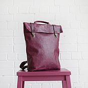 Сумки и аксессуары ручной работы. Ярмарка Мастеров - ручная работа Кожаный рюкзак Blackberry. Handmade.
