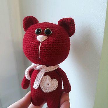 Куклы и игрушки ручной работы. Ярмарка Мастеров - ручная работа Котик, вязаная игрушка. Handmade.