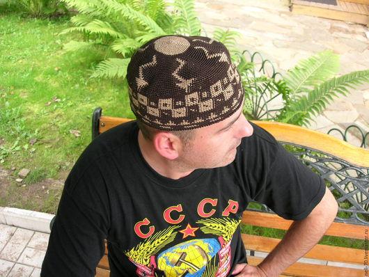 """Для мужчин, ручной работы. Ярмарка Мастеров - ручная работа. Купить Шапка  """"Султан 24"""". Handmade. Комбинированный, мужская шапка"""