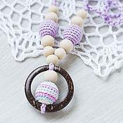 Одежда ручной работы. Ярмарка Мастеров - ручная работа Слингобусы (слингокулон)с кокосовым кольцом лиловые. Handmade.