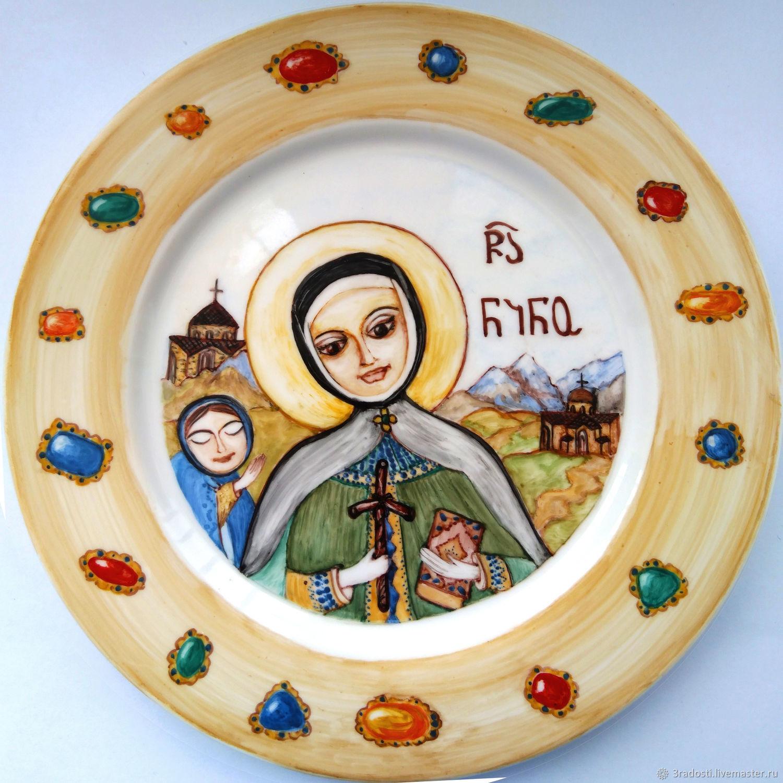 Святая Нино надглазурная роспись, Иконы, Москва,  Фото №1