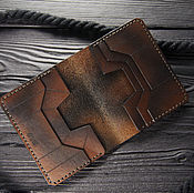 Сумки и аксессуары handmade. Livemaster - original item Small leather purse. Compact male leather cardholder.. Handmade.