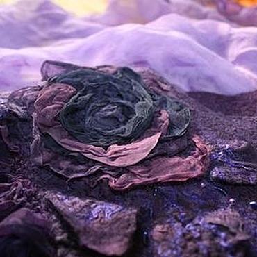 Одежда ручной работы. Ярмарка Мастеров - ручная работа Платье валяное Фиолетовый сон. Handmade.