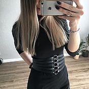 Аксессуары handmade. Livemaster - original item Waist corset genuine leather. Handmade.