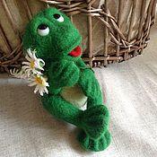 Куклы и игрушки ручной работы. Ярмарка Мастеров - ручная работа Лягушонок Кваки. Handmade.