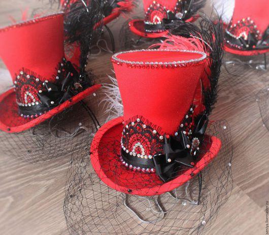 Шляпы ручной работы. Ярмарка Мастеров - ручная работа. Купить Цилиндры к сценическому костюму. Handmade. Комбинированный, сценический костюм, для фотосесии