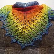Аксессуары handmade. Livemaster - original item Shawl Rainbow-2. County 8.1. Handmade.