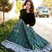 Одежда handmade. Livemaster - original item Long skirt in wool Paul 'Daisy