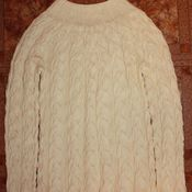 Одежда ручной работы. Ярмарка Мастеров - ручная работа Джемпер в косах. Handmade.