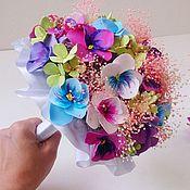 Цветы и флористика ручной работы. Ярмарка Мастеров - ручная работа Анютины глазки для невесты. Handmade.