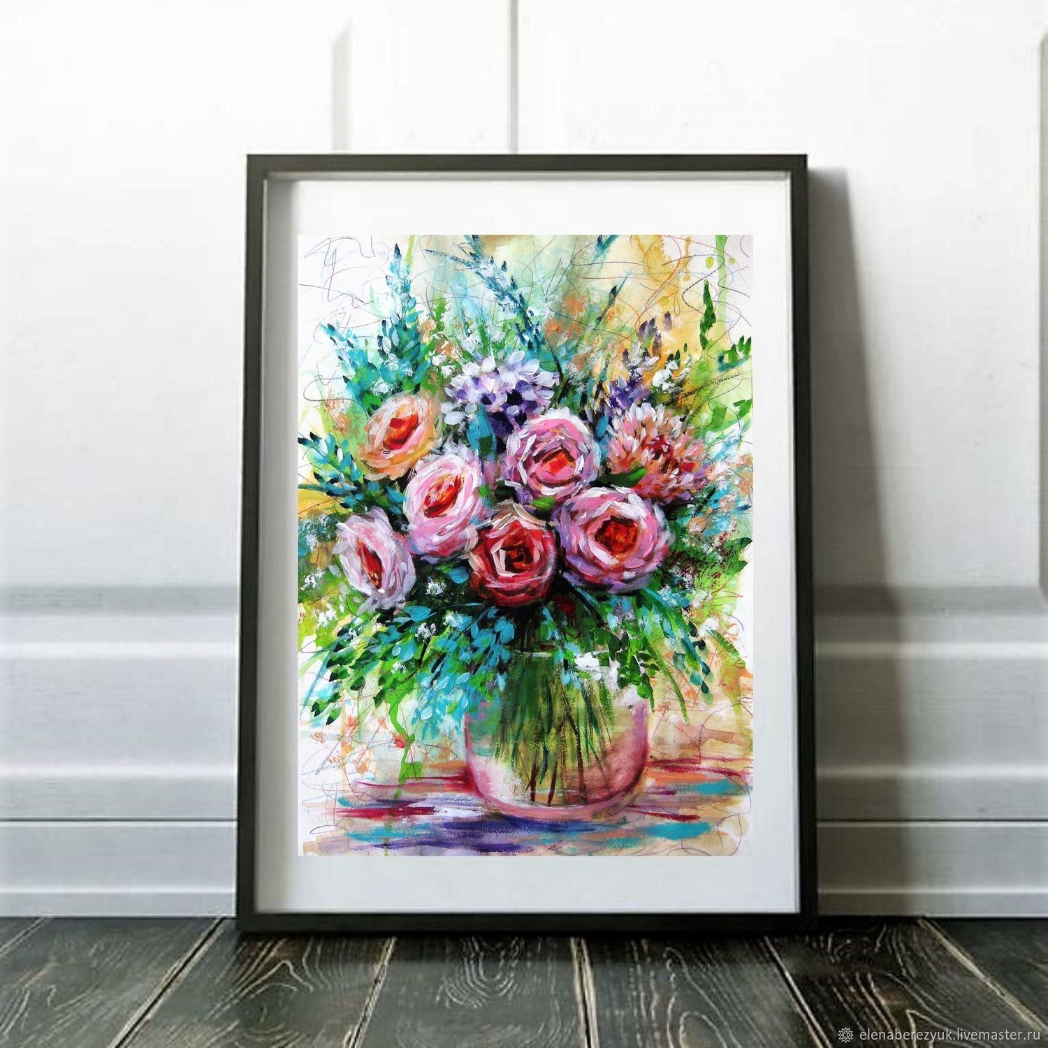 Rose Painting Watercolor, Pictures, Petrozavodsk,  Фото №1