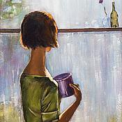 Картины и панно ручной работы. Ярмарка Мастеров - ручная работа За окном.... Handmade.