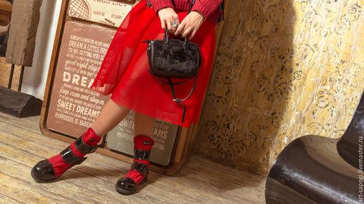 Обувь ручной работы. Ярмарка Мастеров - ручная работа. Купить Демисезонные ботинки  6d-261-03Х2 (СЧ). Handmade.