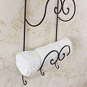 Для дома и интерьера ручной работы. Ярмарка Мастеров - ручная работа Металлический держатель для полотенец с крючками. Handmade.