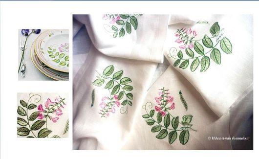 """Текстиль, ковры ручной работы. Ярмарка Мастеров - ручная работа. Купить Скатерть """"Душистый горошек - Vicia sepium L"""". Handmade."""