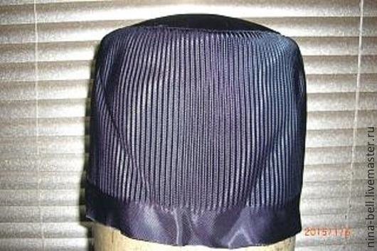 Шитье ручной работы. Ярмарка Мастеров - ручная работа. Купить подкладка гофрированная для меховой формованной шапки. Handmade. Черный, подкладка