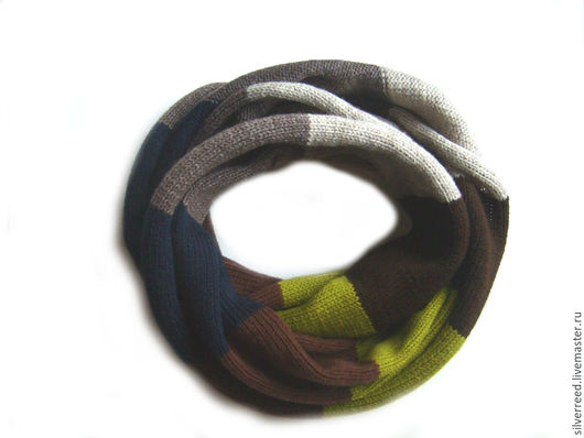 Шарфы и шарфики ручной работы. Ярмарка Мастеров - ручная работа. Купить Шарф снуд. Handmade. Комбинированный, вязаный снуд