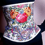Одежда ручной работы. Ярмарка Мастеров - ручная работа Корсет из павлопосадского платка. Handmade.