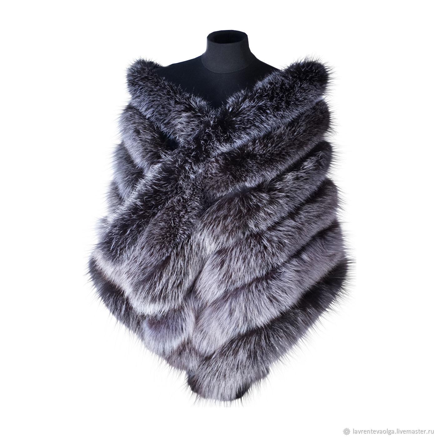 Fur shawl 'Winter luxury', Wraps, Moscow,  Фото №1