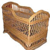 Мебель ручной работы. Ярмарка Мастеров - ручная работа Детская кроватка плетеная из натуральной лозы. Handmade.
