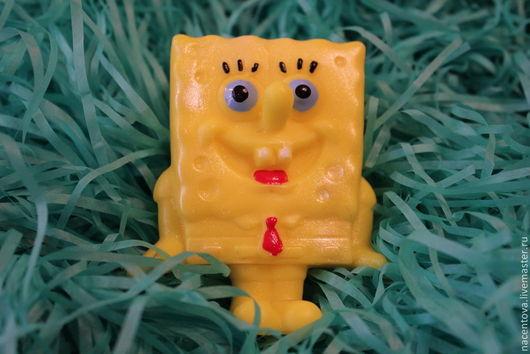 """Мыло ручной работы. Ярмарка Мастеров - ручная работа. Купить Мыло """"Спанч Боб"""". Handmade. Желтый, мыло в подарок"""