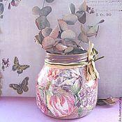 Для дома и интерьера ручной работы. Ярмарка Мастеров - ручная работа Баночка-вазочка. Handmade.